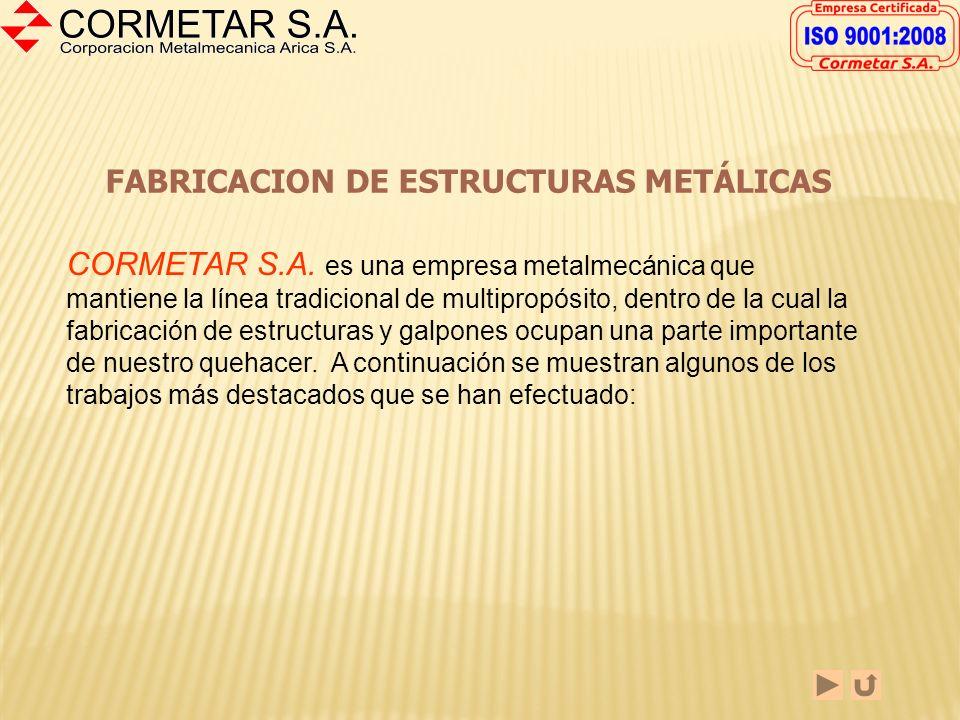 FABRICACION DE ESTRUCTURAS METÁLICAS