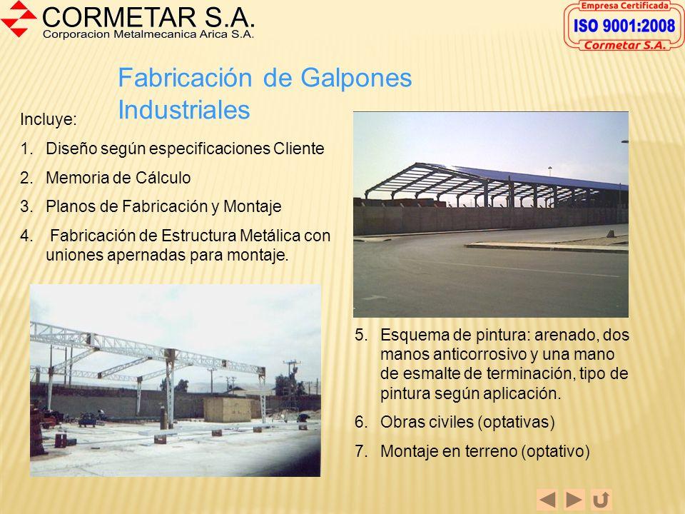Fabricación de Galpones Industriales