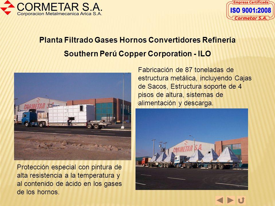 Planta Filtrado Gases Hornos Convertidores Refinería