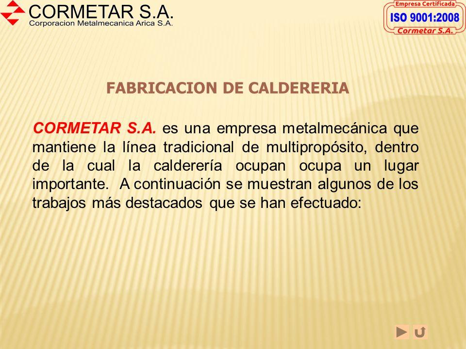 FABRICACION DE CALDERERIA