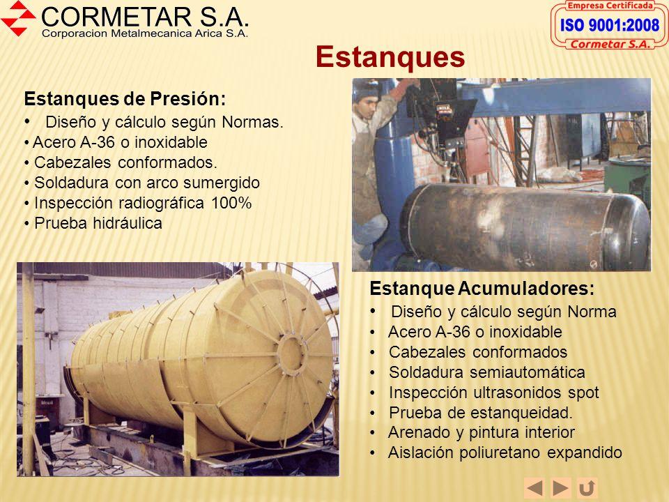 Estanques Estanques de Presión: Diseño y cálculo según Normas.