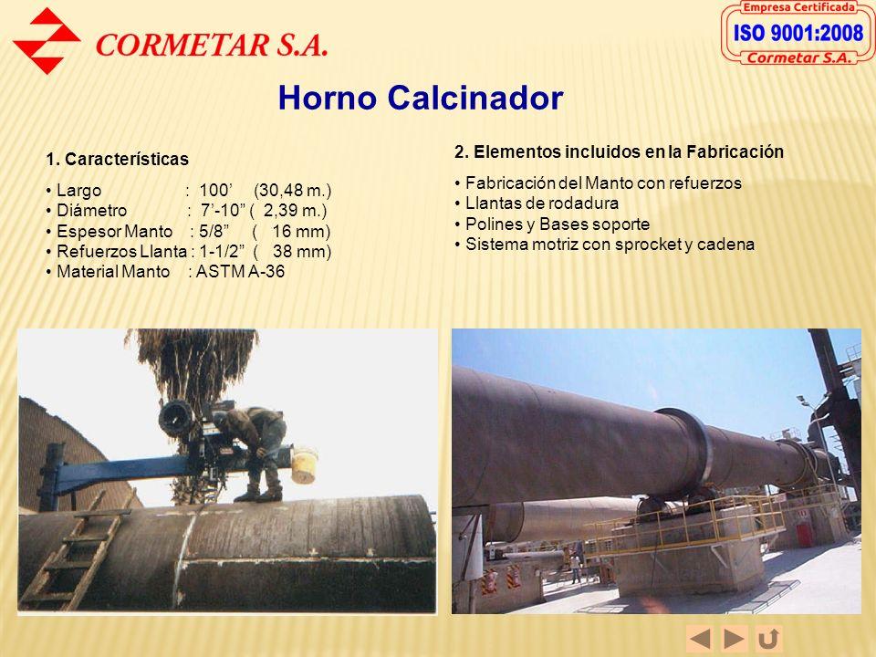 Horno Calcinador 2. Elementos incluidos en la Fabricación