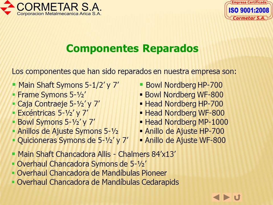 Componentes Reparados