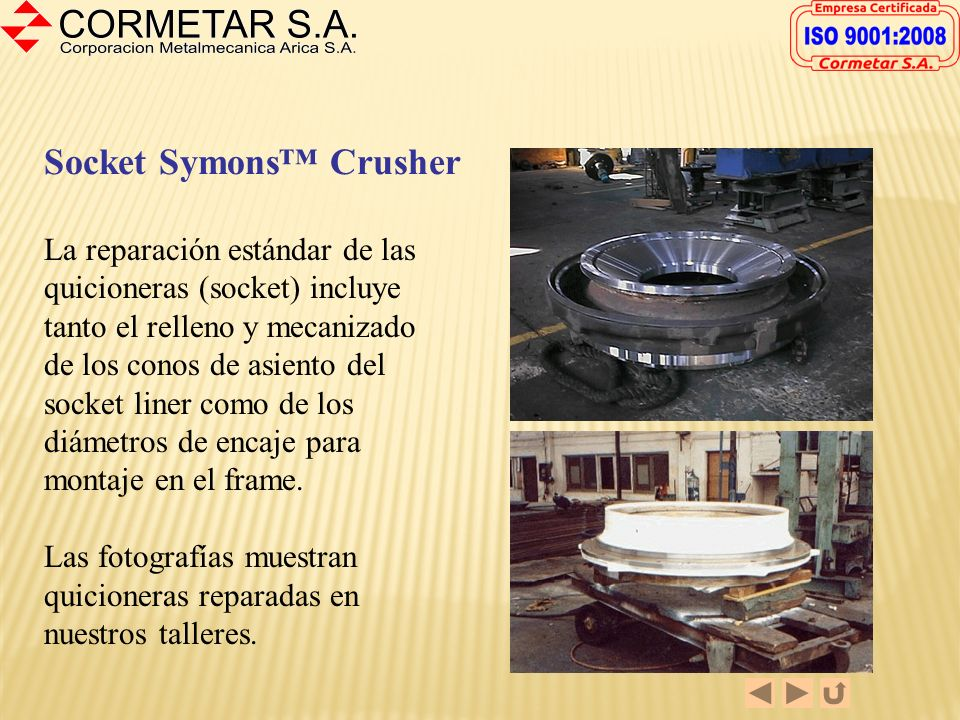 Socket Symons™ Crusher