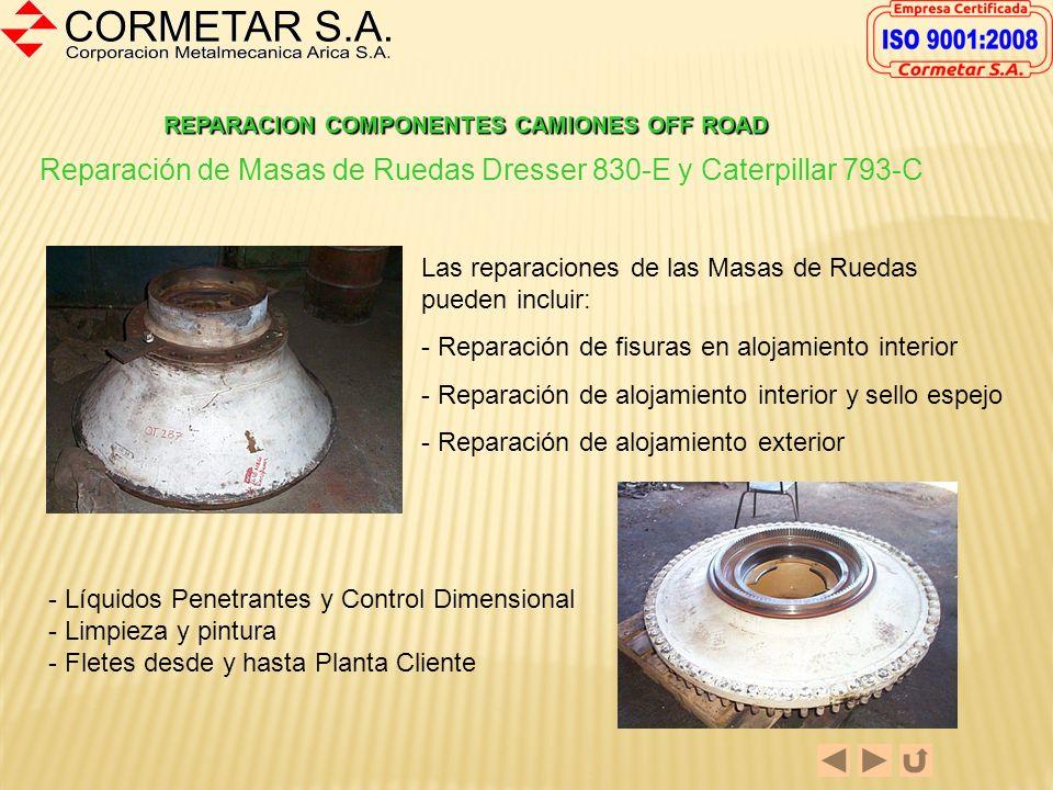Reparación de Masas de Ruedas Dresser 830-E y Caterpillar 793-C