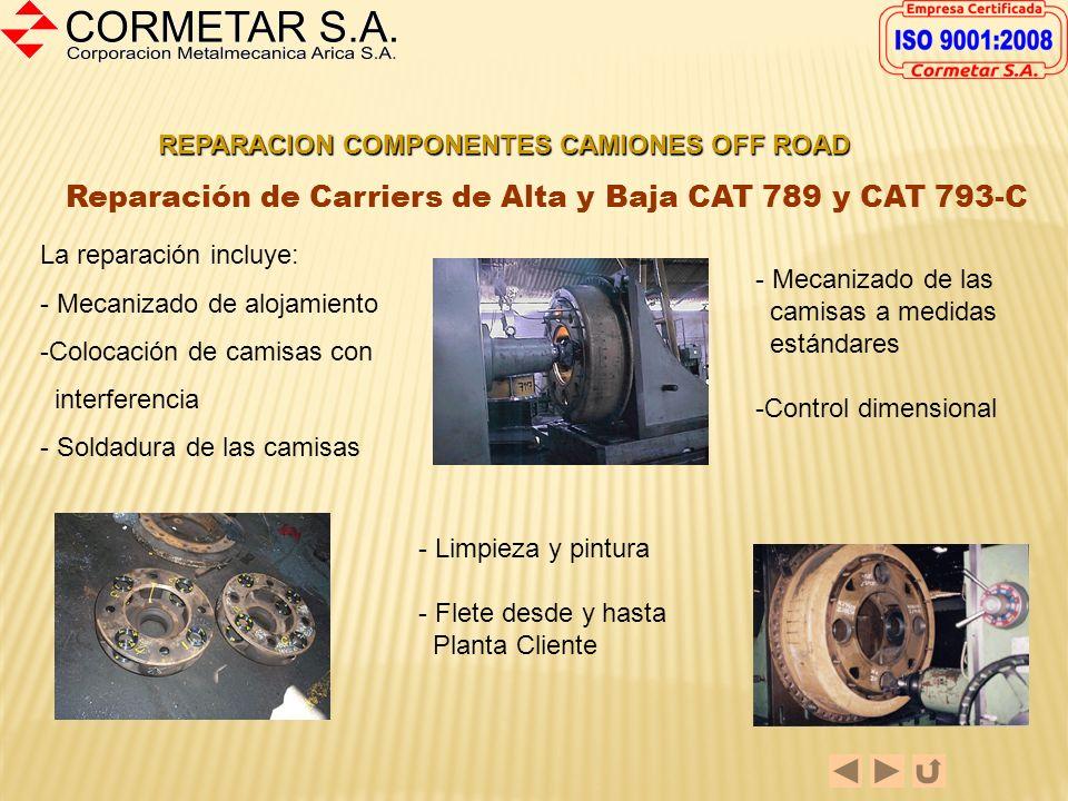Reparación de Carriers de Alta y Baja CAT 789 y CAT 793-C