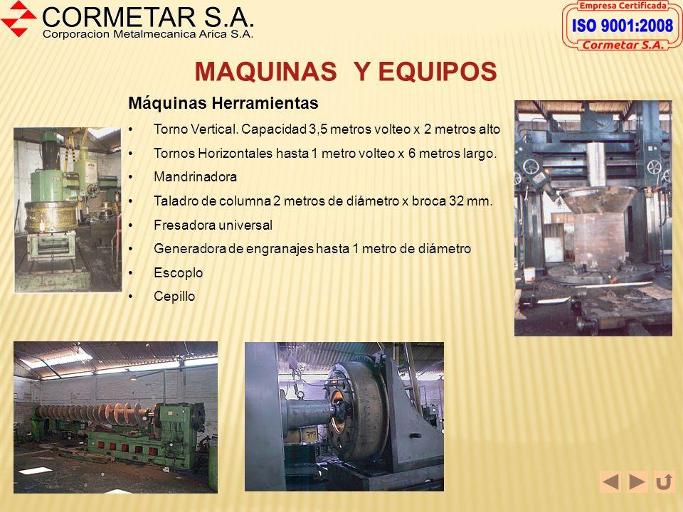 MAQUINAS Y EQUIPOS Máquinas Herramientas