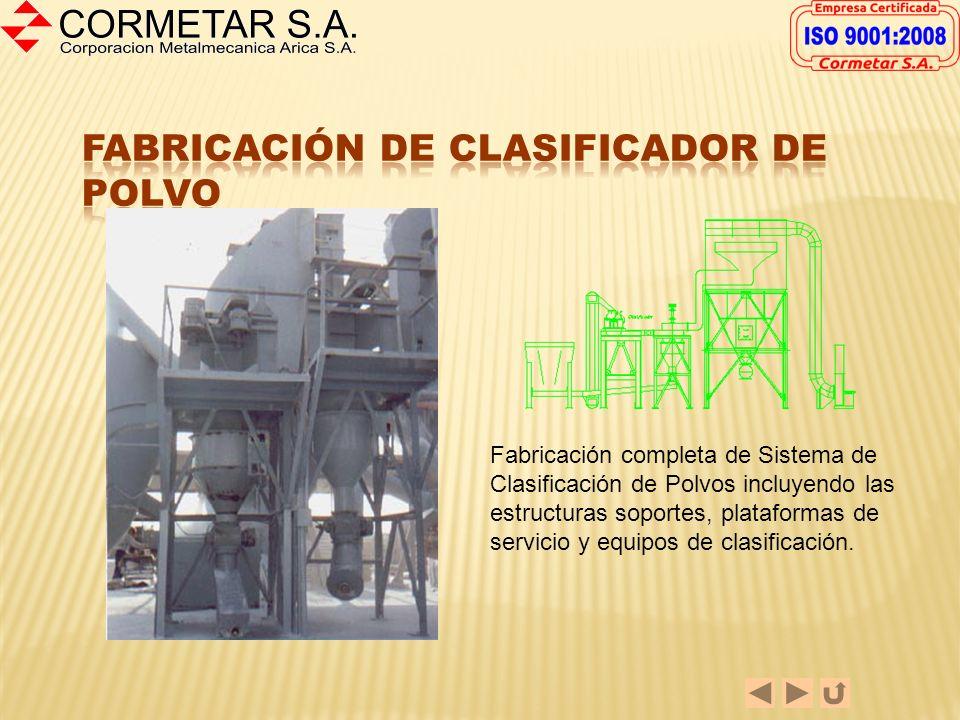 Fabricación de Clasificador de Polvo