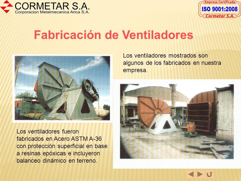 Fabricación de Ventiladores