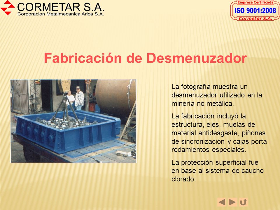 Fabricación de Desmenuzador