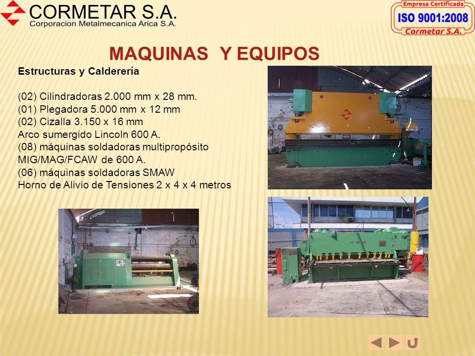 MAQUINAS Y EQUIPOS Estructuras y Calderería