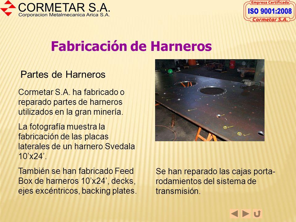 Fabricación de Harneros