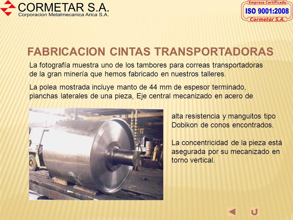 FABRICACION CINTAS TRANSPORTADORAS