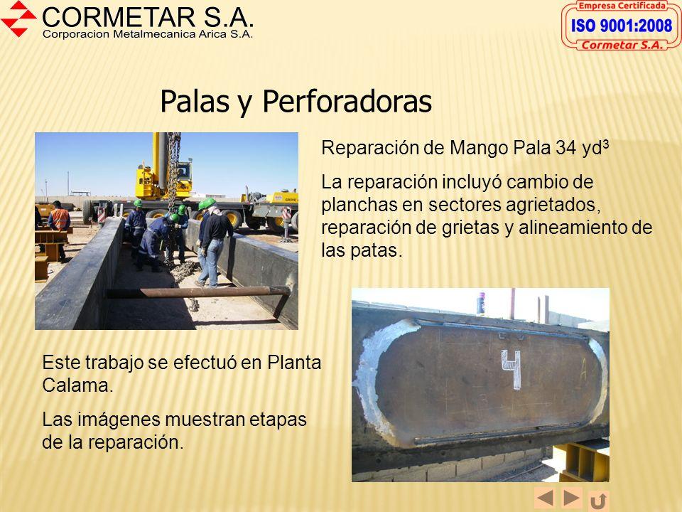 Palas y Perforadoras Reparación de Mango Pala 34 yd3