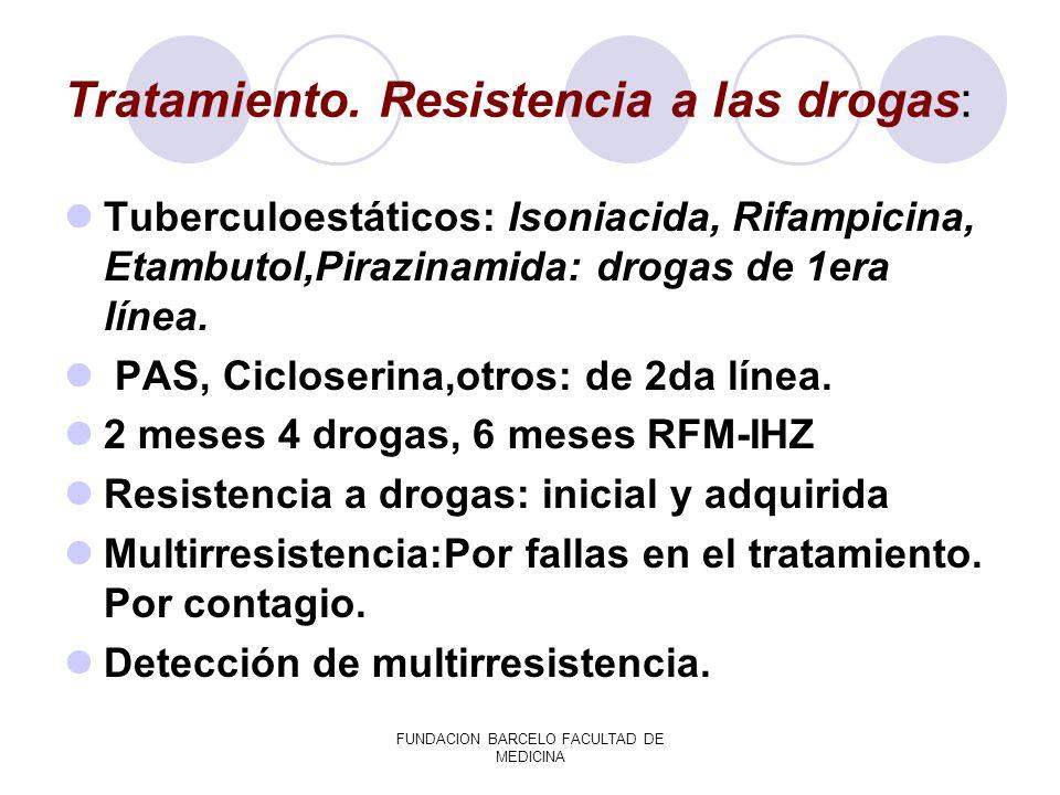 Tratamiento. Resistencia a las drogas: