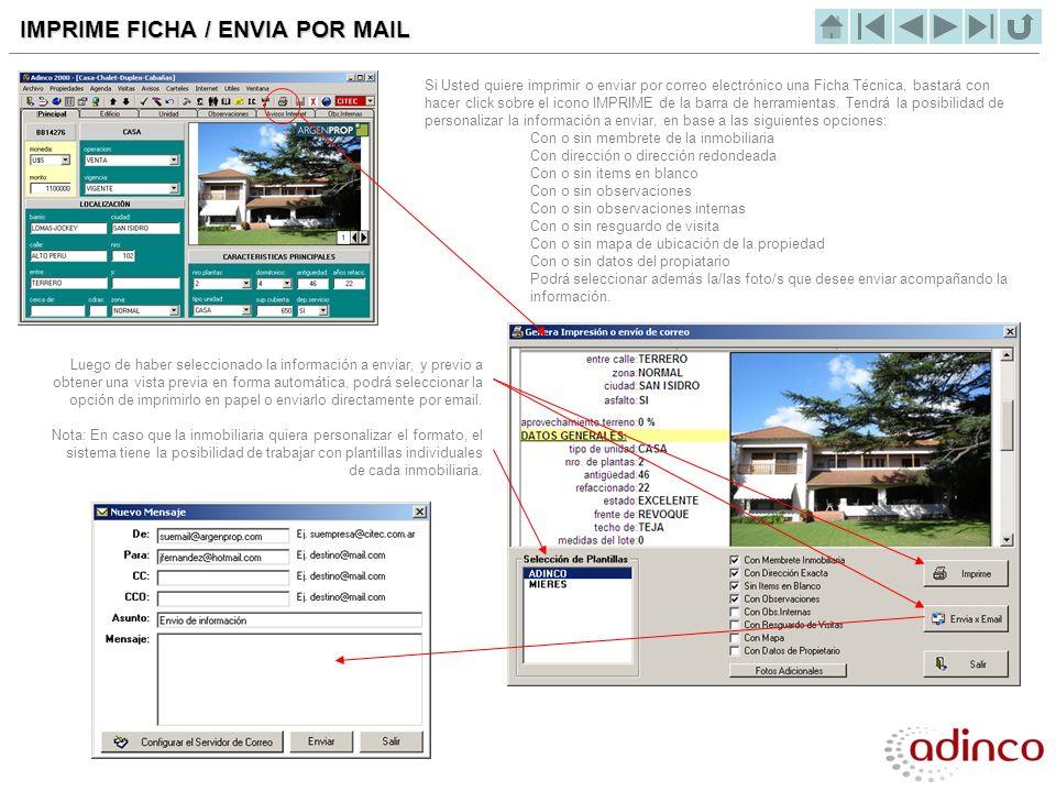 IMPRIME FICHA / ENVIA POR MAIL