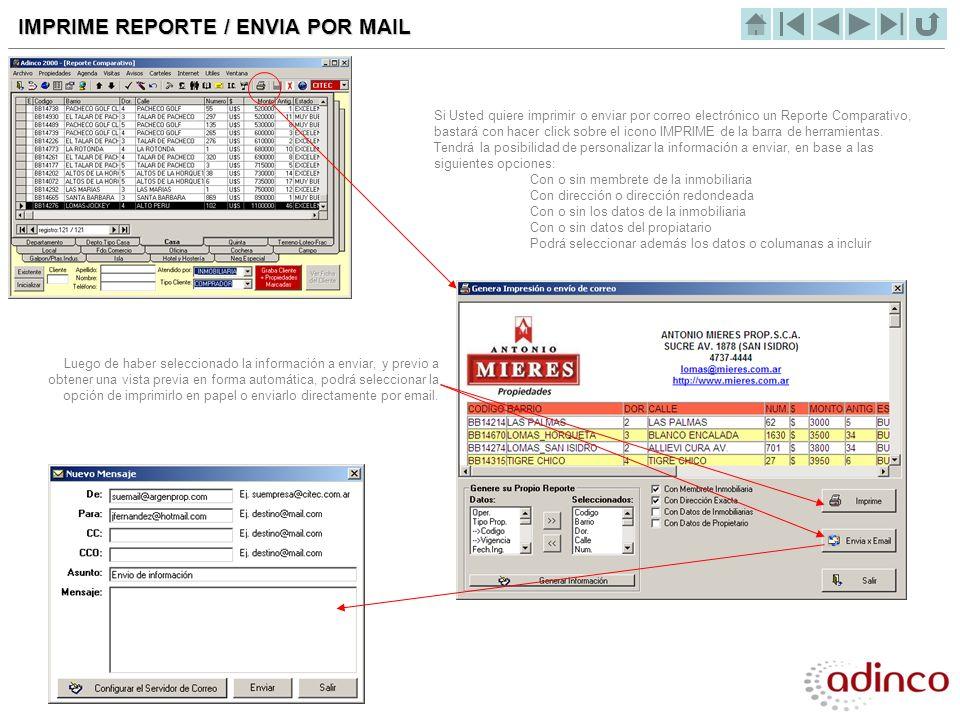 IMPRIME REPORTE / ENVIA POR MAIL