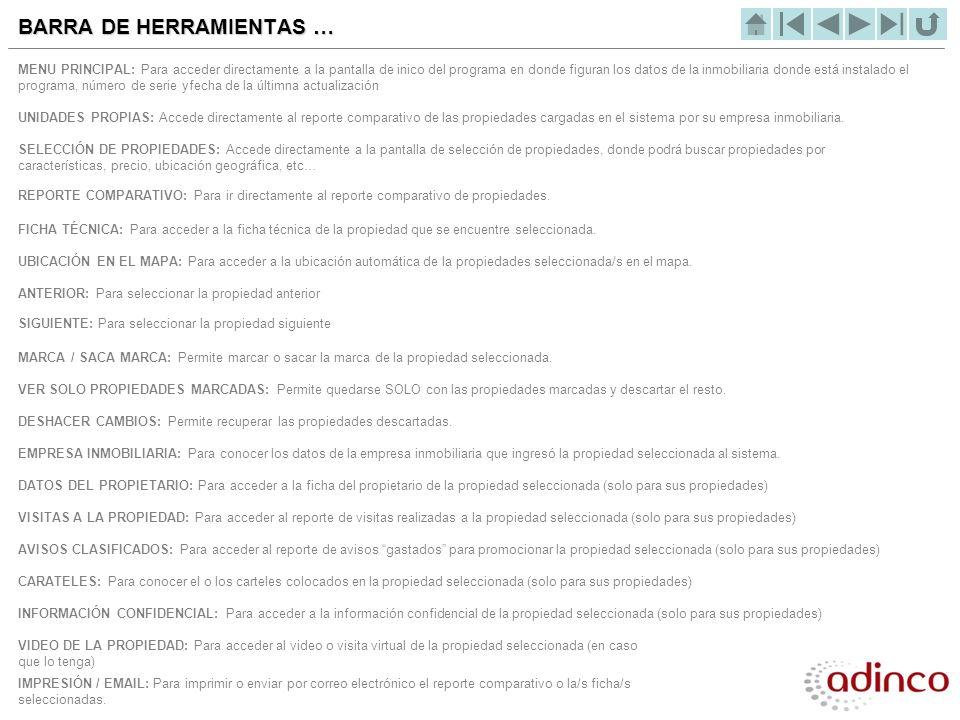 BARRA DE HERRAMIENTAS …