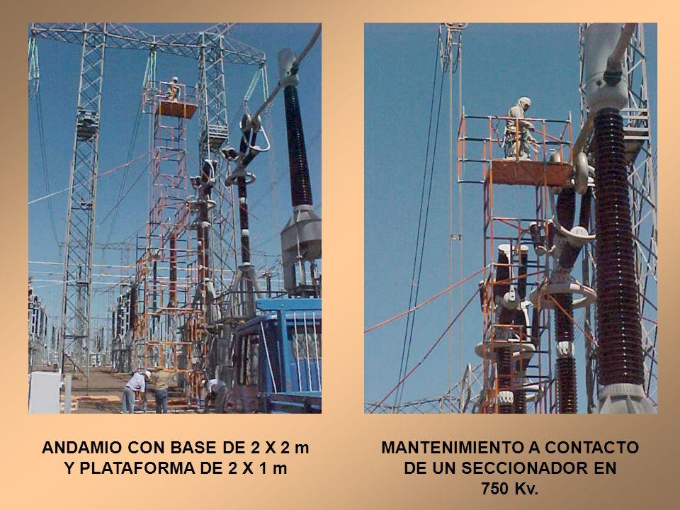 ANDAMIO CON BASE DE 2 X 2 m Y PLATAFORMA DE 2 X 1 m
