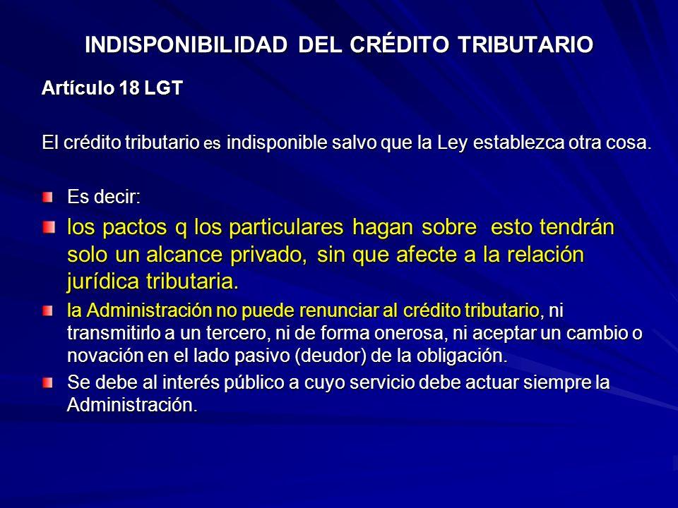 INDISPONIBILIDAD DEL CRÉDITO TRIBUTARIO