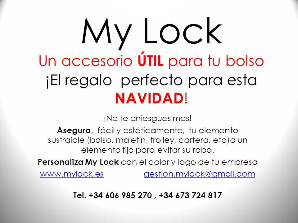 My Lock Un accesorio ÚTIL para tu bolso ¡El regalo perfecto para esta NAVIDAD!