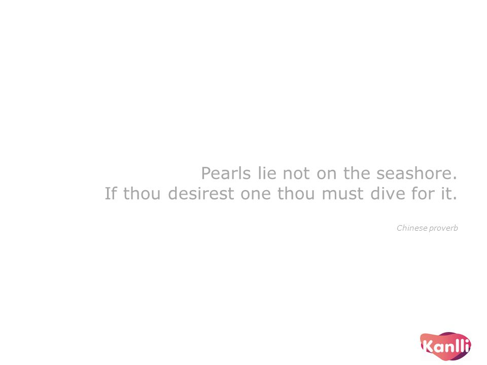 Pearls lie not on the seashore