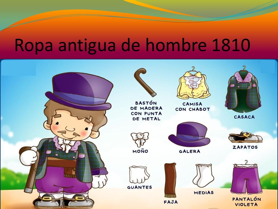 Ropa antigua de hombre 1810