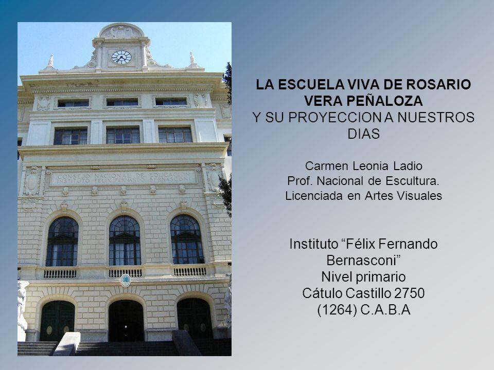 LA ESCUELA VIVA DE ROSARIO VERA PEÑALOZA Y SU PROYECCION A NUESTROS DIAS Carmen Leonia Ladio Prof.