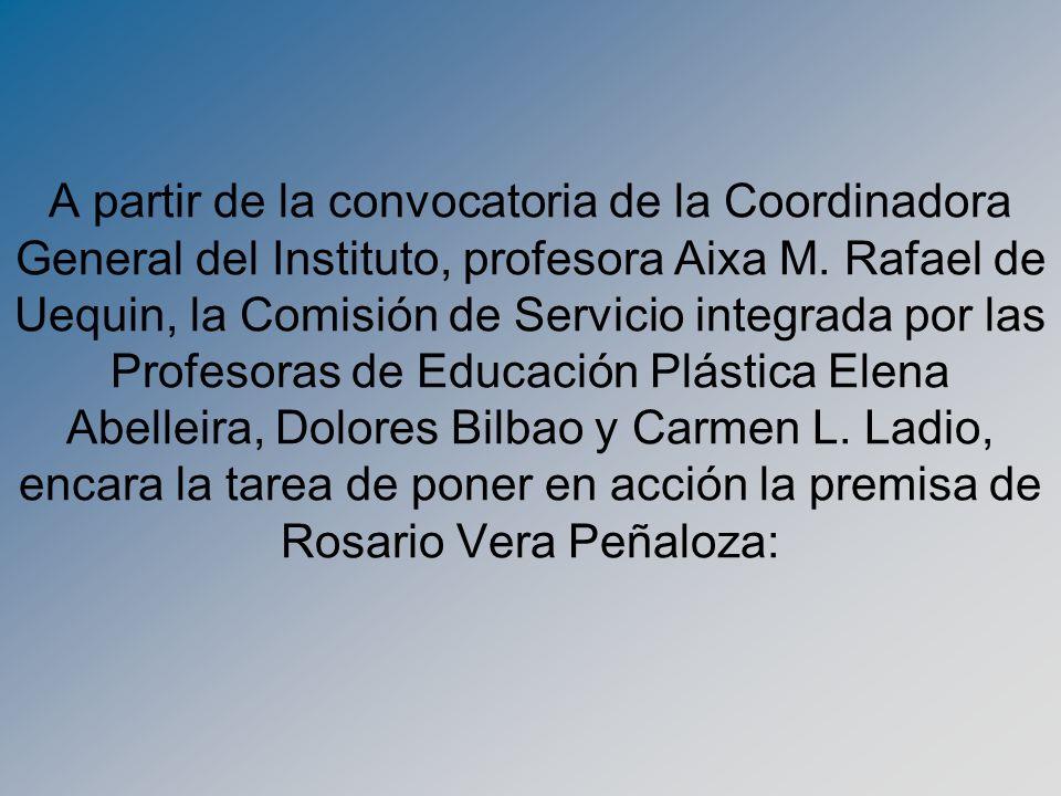 A partir de la convocatoria de la Coordinadora General del Instituto, profesora Aixa M.
