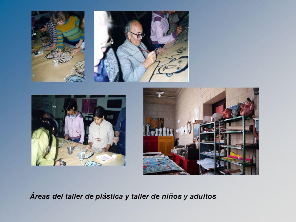 Áreas del taller de plástica y taller de niños y adultos