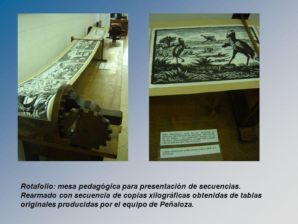 Rotafolio: mesa pedagógica para presentación de secuencias