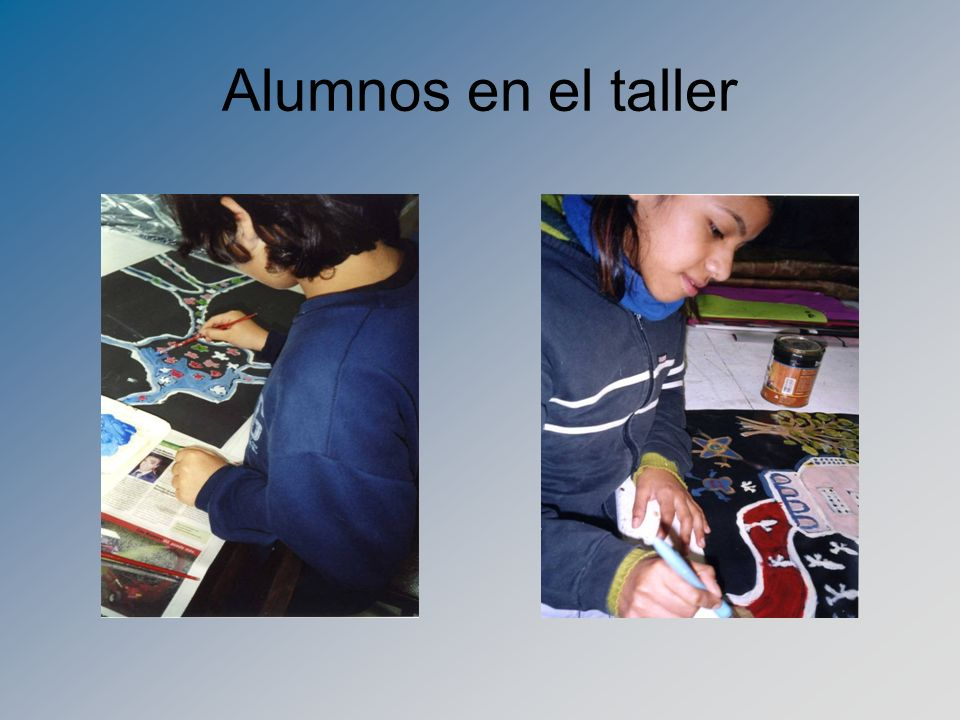 Alumnos en el taller