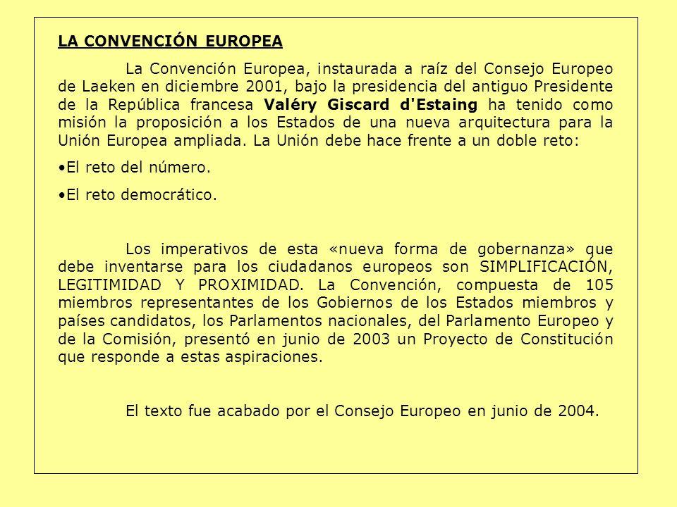 LA CONVENCIÓN EUROPEA