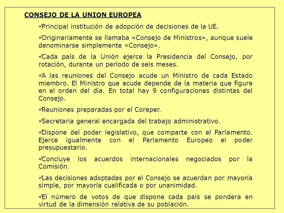CONSEJO DE LA UNION EUROPEA