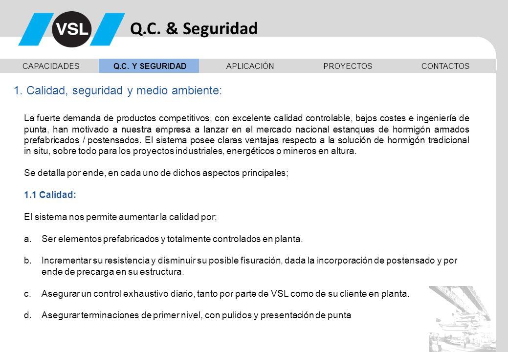 Q.C. & Seguridad 1. Calidad, seguridad y medio ambiente: