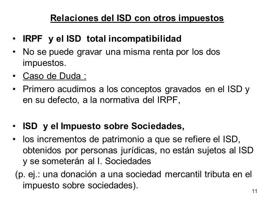 Relaciones del ISD con otros impuestos