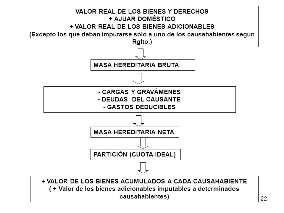 VALOR REAL DE LOS BIENES Y DERECHOS + AJUAR DOMÉSTICO