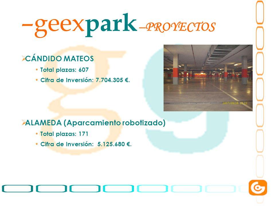 geexpark PROYECTOS CÁNDIDO MATEOS ALAMEDA (Aparcamiento robotizado)