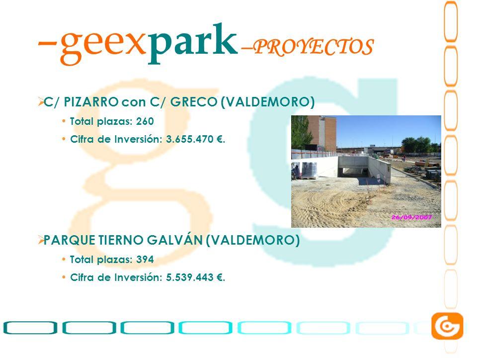 geexpark PROYECTOS C/ PIZARRO con C/ GRECO (VALDEMORO)