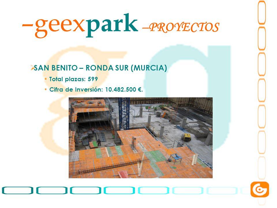 geexpark PROYECTOS SAN BENITO – RONDA SUR (MURCIA) Total plazas: 599
