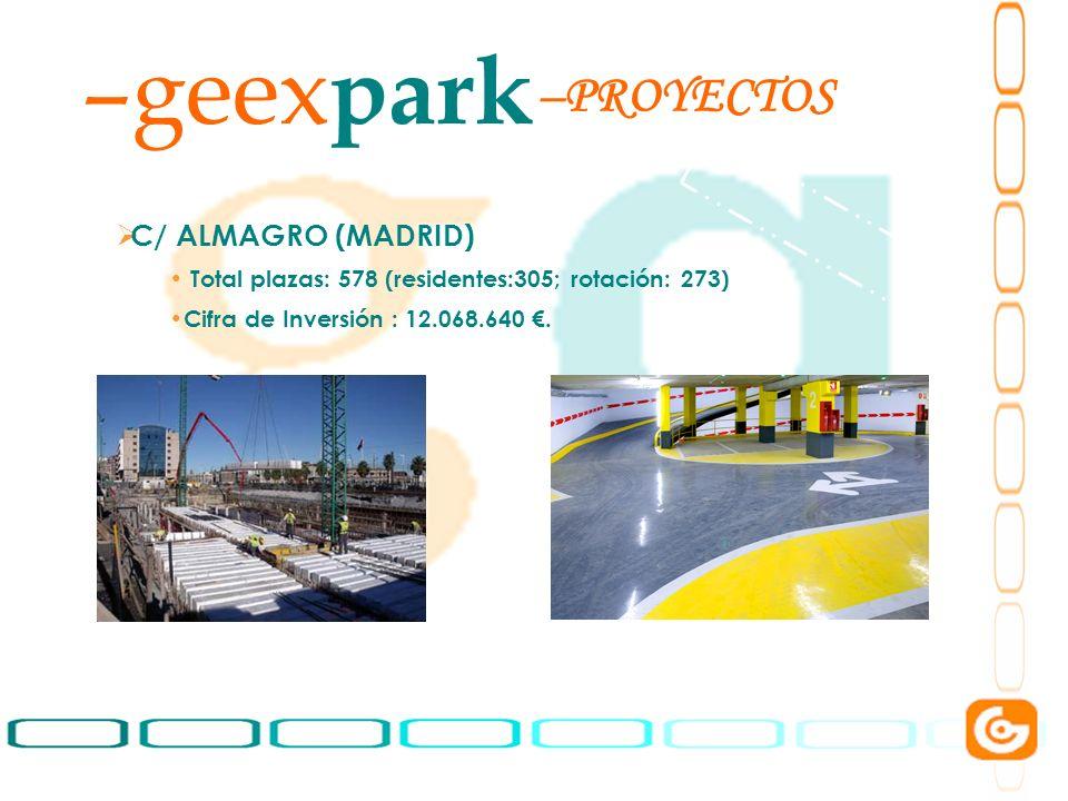 geexpark PROYECTOS C/ ALMAGRO (MADRID)