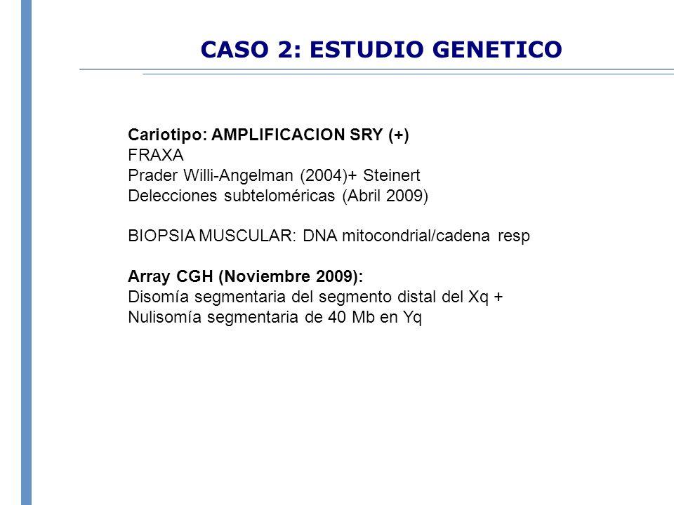 CASO 2: ESTUDIO GENETICO