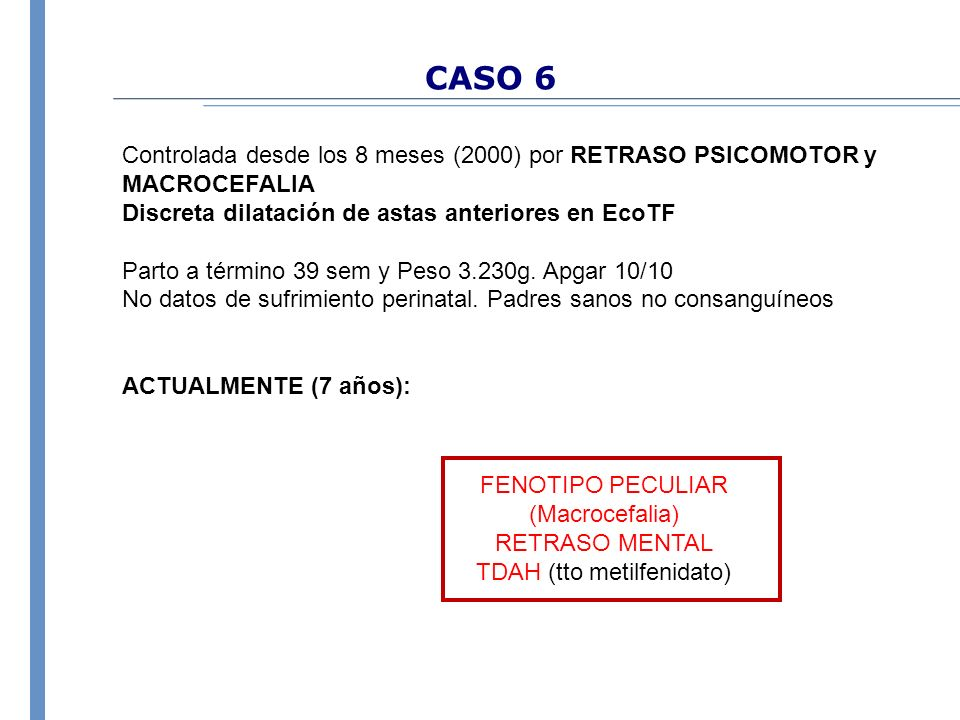 TDAH (tto metilfenidato)