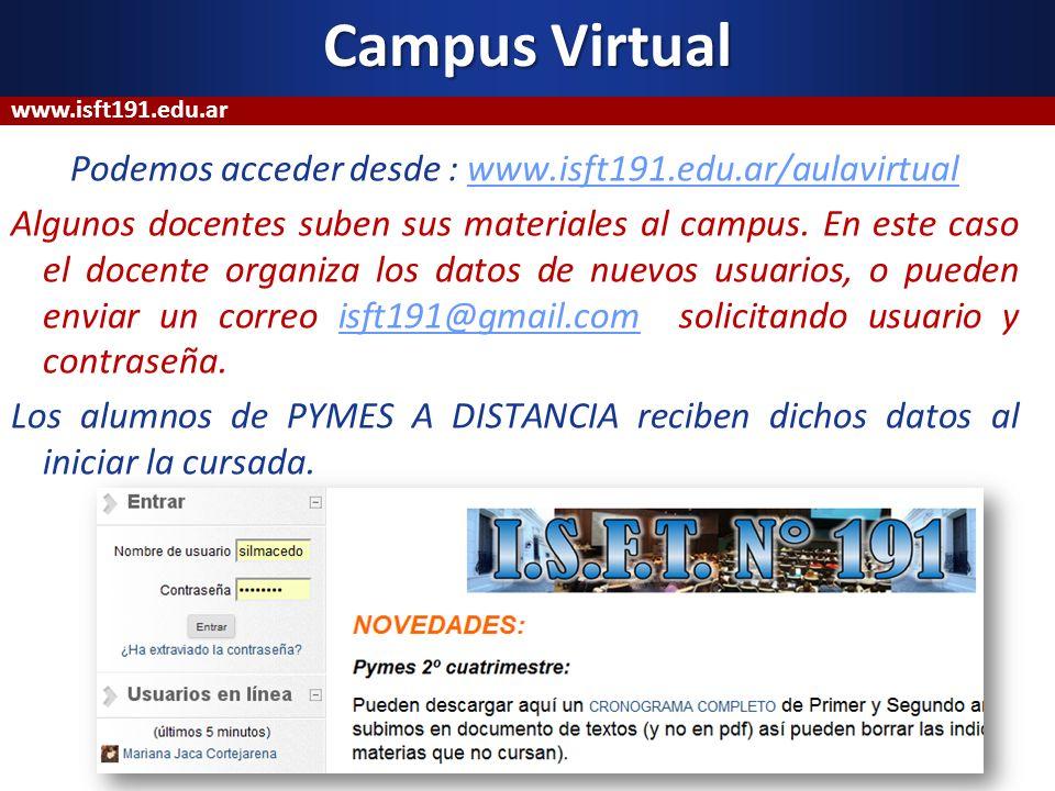 Campus Virtualwww.isft191.edu.ar.
