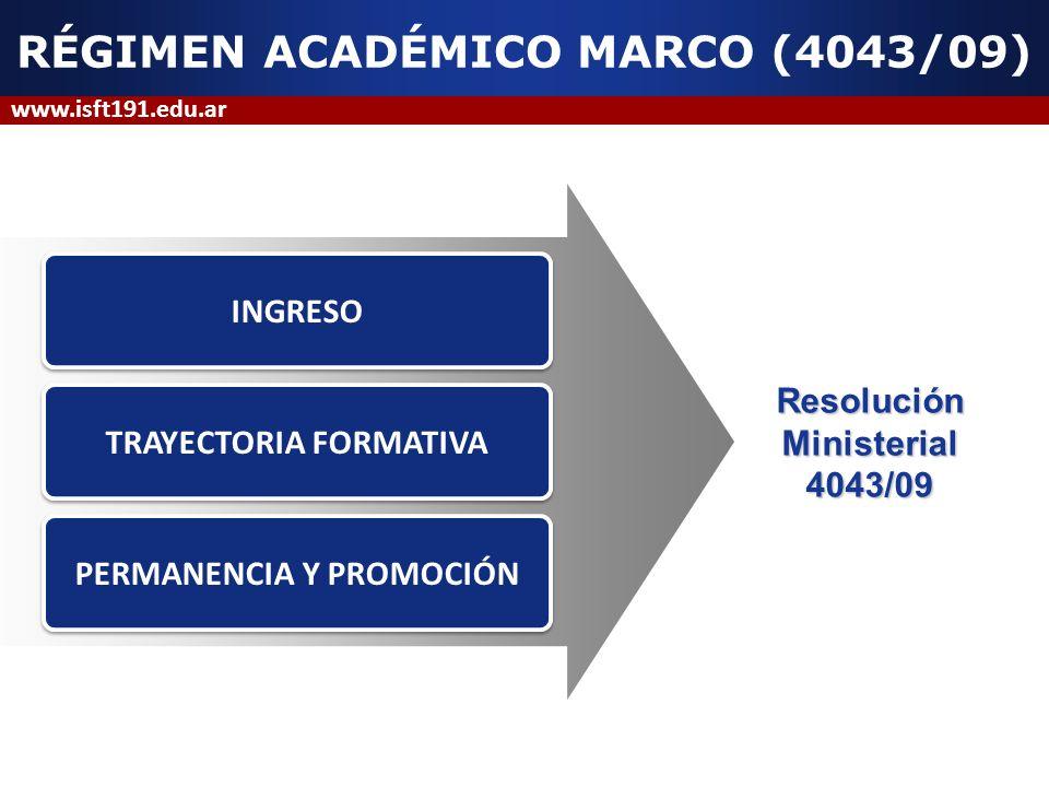 RÉGIMEN ACADÉMICO MARCO (4043/09)