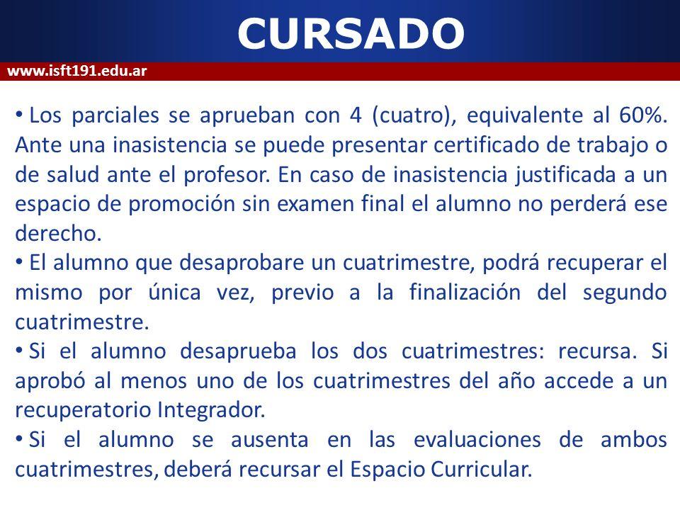 CURSADO www.isft191.edu.ar.