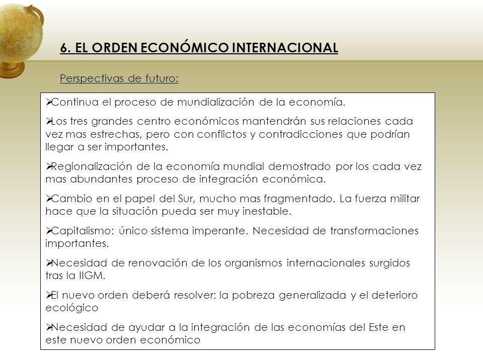 6. EL ORDEN ECONÓMICO INTERNACIONAL
