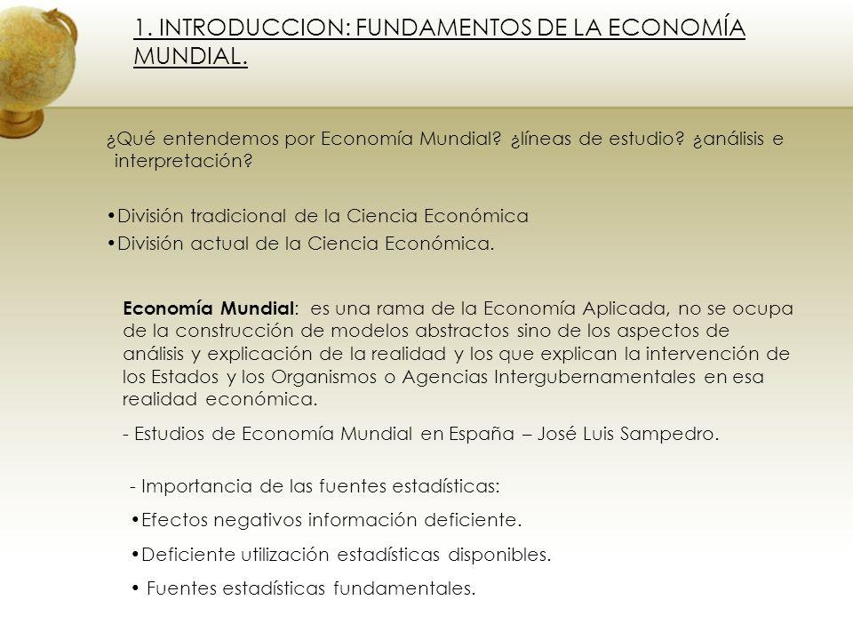 1. INTRODUCCION: FUNDAMENTOS DE LA ECONOMÍA MUNDIAL.