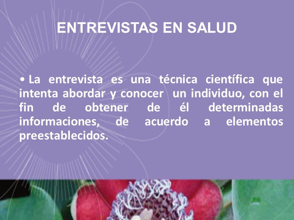 ENTREVISTAS EN SALUD