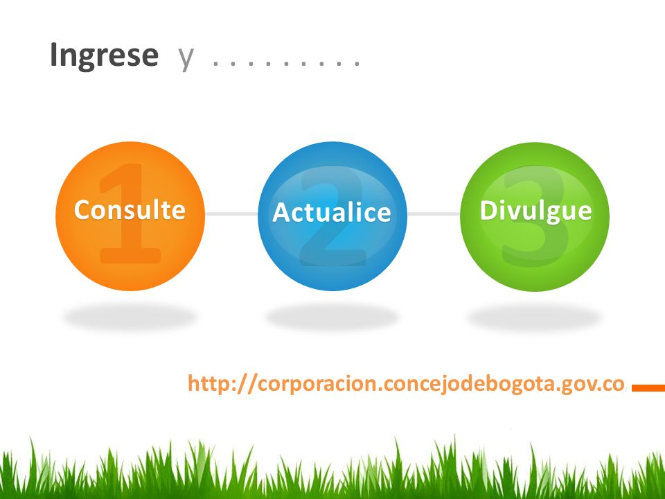 1 2 3 Ingrese y . . . . . . . . . Consulte Actualice Divulgue